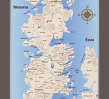 Game of Thrones Map by marbo92