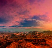 Death Valley Sunset by AlienVisitor