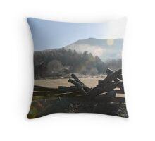 Dawn at Cades Cove Throw Pillow