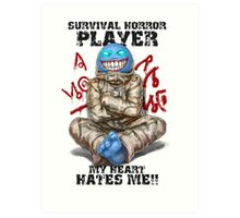 Gamer - Survival Horror Genre Art Print