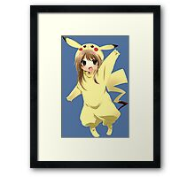 pokemon chibi girl pikachu anime shirt Framed Print