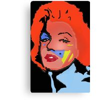 Marilyn Monroe in color Canvas Print