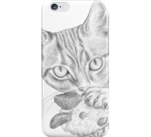 cat playing with toy iPhone Case/Skin