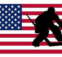 Hockey Goalie American Flag by GiftIdea