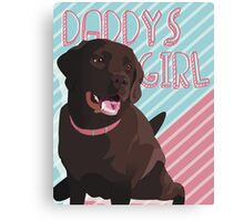 Daddy's Girl, Vector Chocolate Lab Art Canvas Print