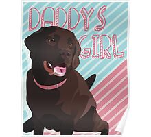 Daddy's Girl, Vector Chocolate Lab Art Poster