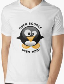 Open Source Open Mind Mens V-Neck T-Shirt
