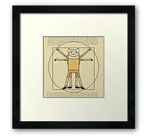 Finn the Vitruvian Man  Framed Print