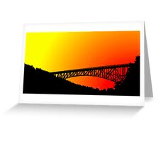 Cross Over the Sunset Greeting Card