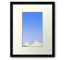 Minimal Tent Framed Print