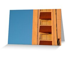 Blue and Orange from Florida  Greeting Card