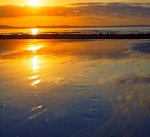 beal beach reflections by morrbyte