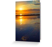 beal beach reflections Greeting Card