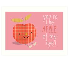 apple in love Art Print