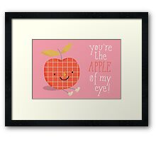 apple in love Framed Print