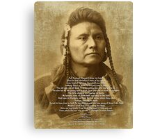 Chief Joseph of the Nez Perce Canvas Print