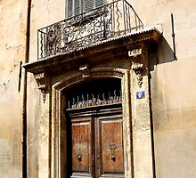 Old Door and Window in Southern France by Ralph Angelillo