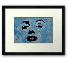 Marily in blue Framed Print