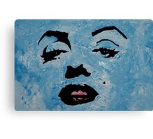 Marily in blue Canvas Print
