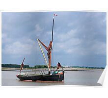 Thames Barge at Snape Poster