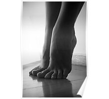 Sculpture of feet Poster