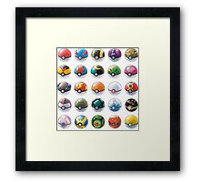 All those pokeball  Framed Print