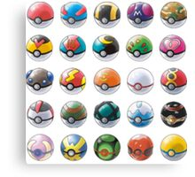 All those pokeball  Canvas Print