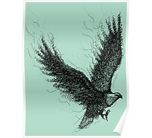 Eagle Curl Abstract Poster