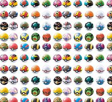 All those pokeball  by Dandyguy