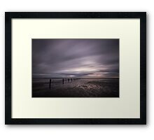 Stormy Beach Framed Print