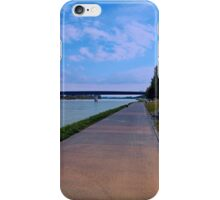 Esplanade on the banks of the river | waterscape photography iPhone Case/Skin