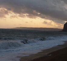 Campset at Golden Cap, Dorset by clareb123