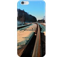 Railroads in winter wonderland | landscape photography iPhone Case/Skin