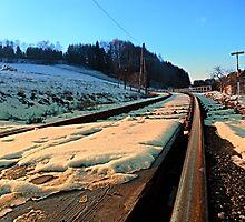 Railroads in winter wonderland | landscape photography by Patrick Jobst