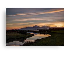 Mourne Sunset Canvas Print