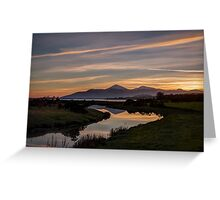 Mourne Sunset Greeting Card