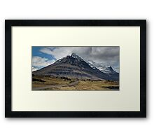 Icelandic Mountain Framed Print