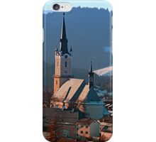 City church in winter wonderland | landscape photography iPhone Case/Skin