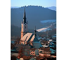 City church in winter wonderland | landscape photography Photographic Print