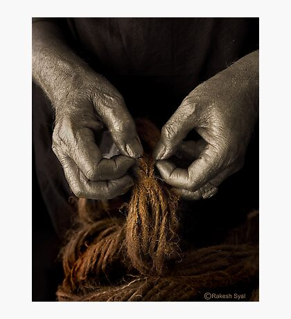 TOILING HANDS Photographic Print