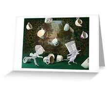 Mad Tea Party: The aftermath Greeting Card