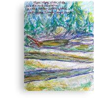 Rock water Slide Canvas Print