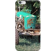 Old traditional Lindner tractor | conceptual photography iPhone Case/Skin