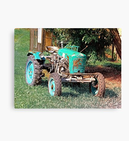 Old traditional Lindner tractor | conceptual photography Canvas Print
