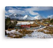 Torrin Village in Winter, Isle of Skye, Scotland. Canvas Print