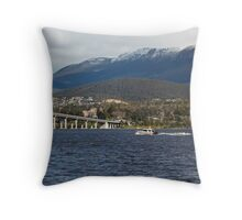 Derwent River and Mount Wellington Throw Pillow