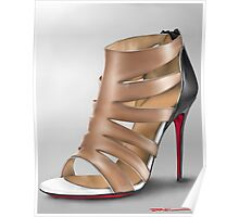Louboutin shoe painting Poster