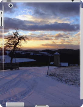 Amazing winter wonderland sundown | landscape photography by Patrick Jobst