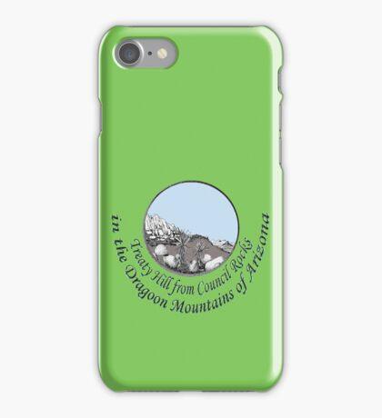 Treaty Hill in Cochise's Dragoon Mtns of Arizona iPhone Case/Skin