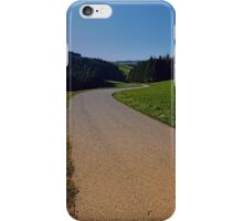 Country road through rural scenery II | landscape photography iPhone Case/Skin